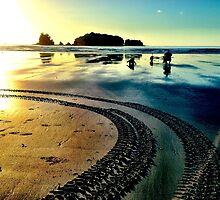 Sunrise beach walk 2 by Janine Barr