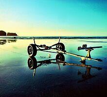 Sunrise beach walk 3 by Janine Barr