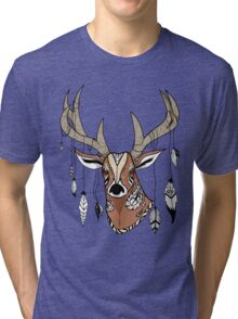 Deer Head Tri-blend T-Shirt