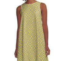 Yellow Maze A-Line Dress