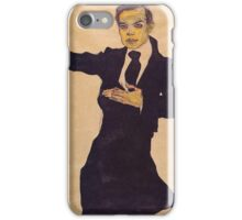 Egon Schiele - Portrait Of The Painter Max Oppenheimer 1910 iPhone Case/Skin
