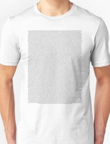 every Twenty One Pilots song/lyric off Vessel Unisex T-Shirt