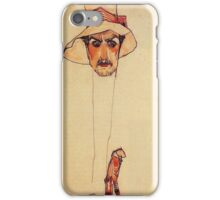Egon Schiele - Portrait Of A Man With A Floppy Hat Portrait Of Erwin Dominilk Osen 1910 iPhone Case/Skin