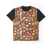 Assorted sweets colorful seamless background. Graphic T-Shirt