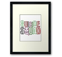 Suicide Squad Neon Framed Print