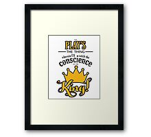 The Play's the Thing! Framed Print