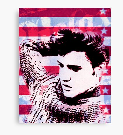 Elvis portrait nº2 Canvas Print