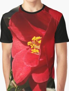 Red Camellia Graphic T-Shirt