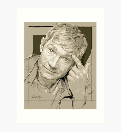 Martin Freeman Artwork Pencil Art Print