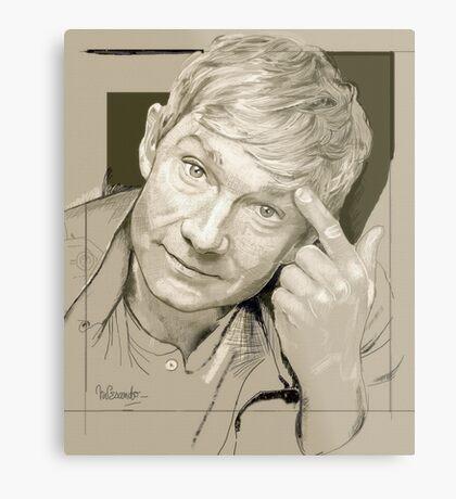 Martin Freeman Artwork Pencil Metal Print