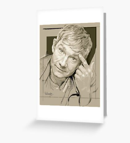 Martin Freeman Artwork Pencil Greeting Card