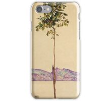 Egon Schiele - Little Tree Chestnut Tree At Lake Constance 1912 iPhone Case/Skin