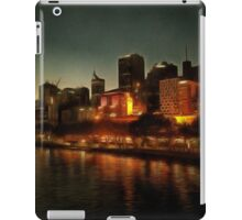 Waterside view of Melbourne at night iPad Case/Skin