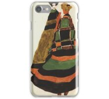 Egon Schiele - Design For A Postcard 1911 iPhone Case/Skin