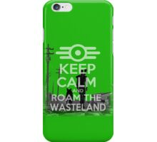keep calm and roam the wasteland design (fallout)  iPhone Case/Skin