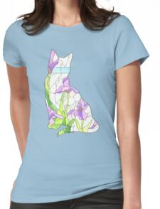 Iris Glass Cat Womens Fitted T-Shirt