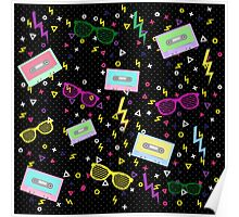 1980 Style multi colored Pattern 80s Poster
