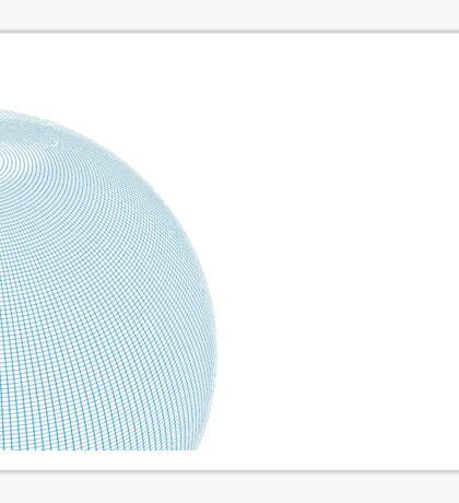 Wire Globe Half White No Back Sticker