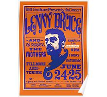 Lenny Bruce plays the Fillmore 1966 Poster