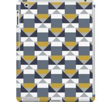 Geometric pattern with grey blocks iPad Case/Skin