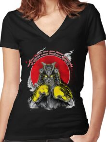 Samurai Boxing - Limited edition Women's Fitted V-Neck T-Shirt