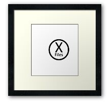 X Files, Black Framed Print