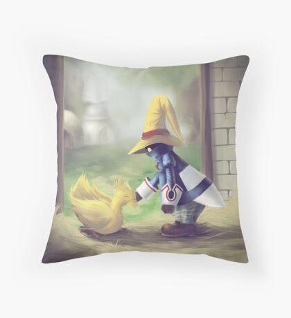 Chocobo & Vivi Throw Pillow