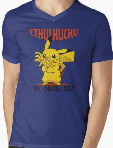 Cthulhuchu Mens V-Neck T-Shirt
