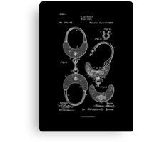 White Handcuff Patent 1880  Canvas Print