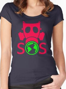 Go Green Mask Women's Fitted Scoop T-Shirt