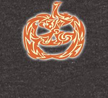 Abstract Vector Decorative Cute Cartoon Carved Halloween Pumpkin Lanter With Happy Smile Women's Relaxed Fit T-Shirt