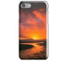 Sunset At Harlech Beach iPhone Case/Skin