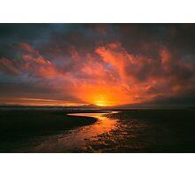 Sunset At Harlech Beach Photographic Print