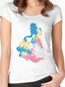 Character Inspired Silhouette  Women's Fitted Scoop T-Shirt