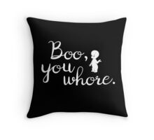 Boo! In Casper Throw Pillow