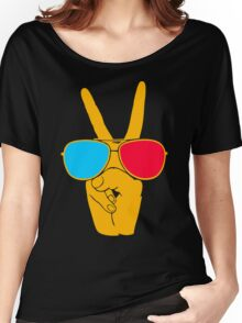 Hand Peace Women's Relaxed Fit T-Shirt
