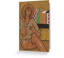Golden Girl - On Brown Paper Greeting Card