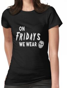 On Fridays We Wear Masks Womens Fitted T-Shirt
