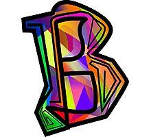 Artist-SG Alphabet  Letter -''B''    Photographic Print