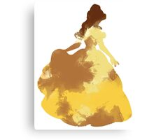 Character Inspired Silhouette  Canvas Print