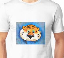 Aubie Face Auburn University Water color Unisex T-Shirt
