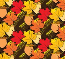 Acorns and leaves Sticker