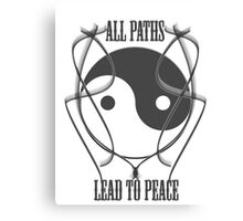 All paths lead to peace Canvas Print