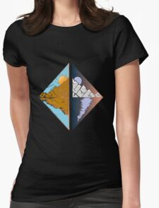 Day and Night  Womens Fitted T-Shirt