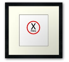 X-Files, Red and Black Framed Print