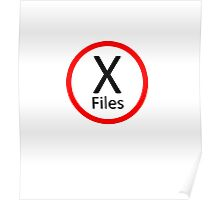 X-Files, Red and Black Poster