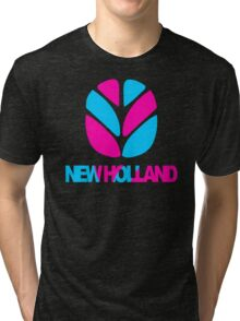 New Holland Tractor Tri-blend T-Shirt
