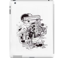white noise drawing 2009 iPad Case/Skin