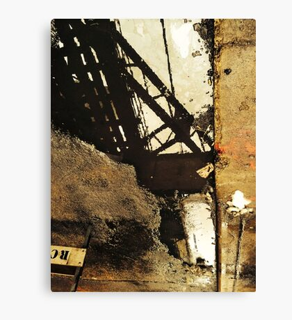 White Bud Under Tracks Over Water Canvas Print