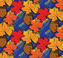 Fall leaves and acorns Sticker